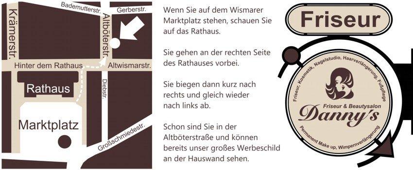 Lageplan Anfahrt Wegbeschreibung Friseur in Wismar